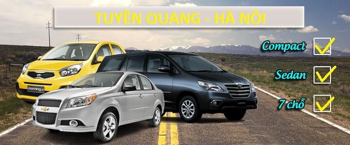 800K - Tuyên Quang -> Hà Nội, bao xe 4c