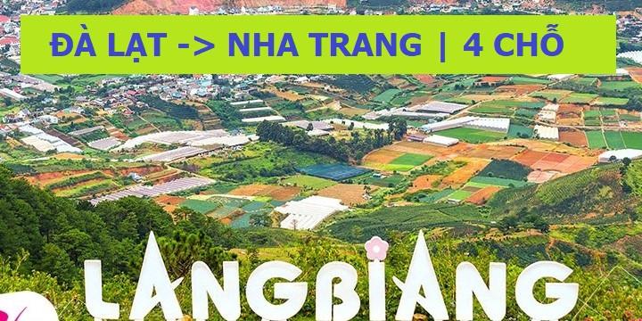1100K, 4 chỗ nhỏ, TT TP Đà Lạt -> TP Nha Trang