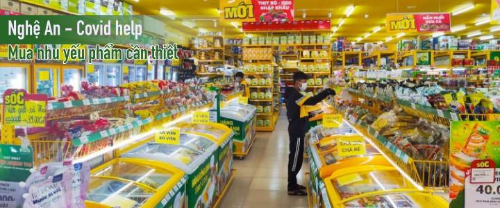 Nghệ An - Trợ giúp mua nhu yếu phẩm